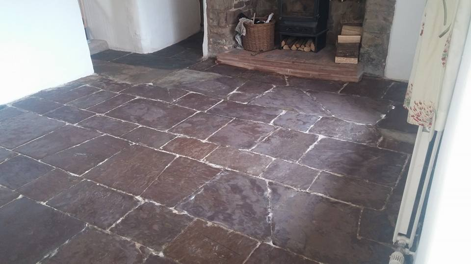 Limestone Flagstone South Molton after cleaning