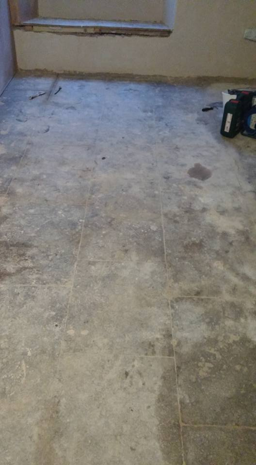 Plymouth Limestone Floor Plymouth Before Restoration