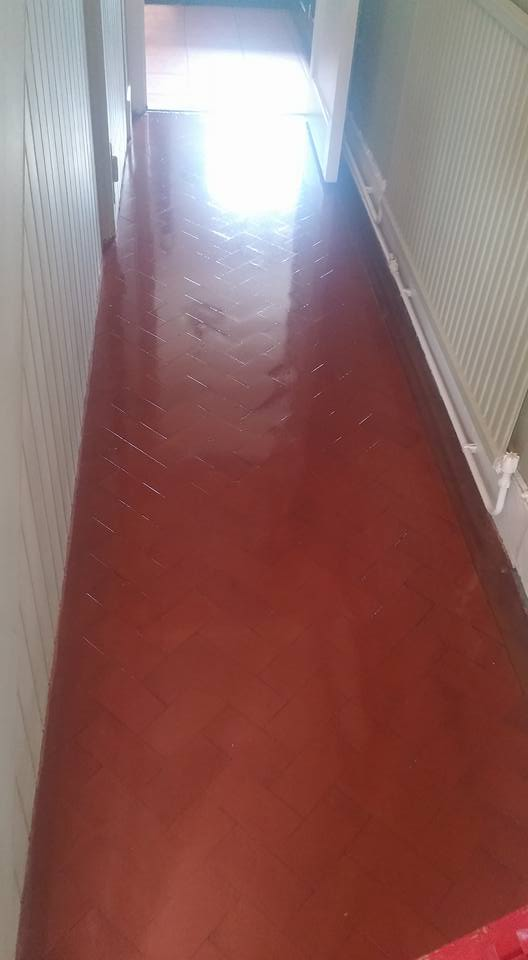 Edwardian Hallway Tiles Herringbone Pattern Colyton After