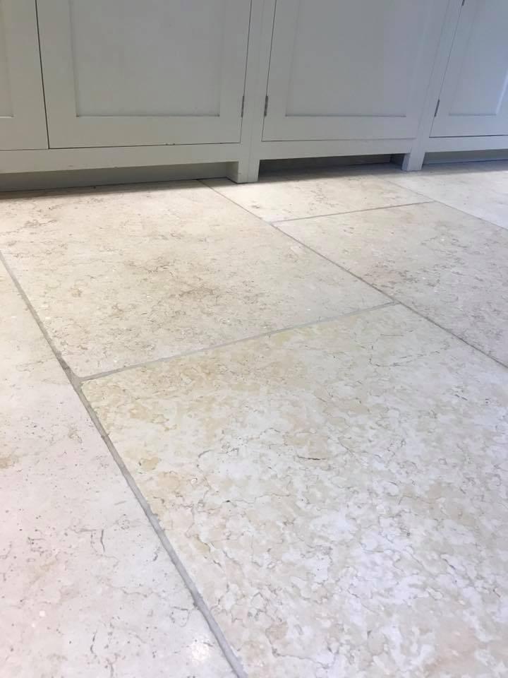 Light Limestone Kitchen Floor Ashprington After