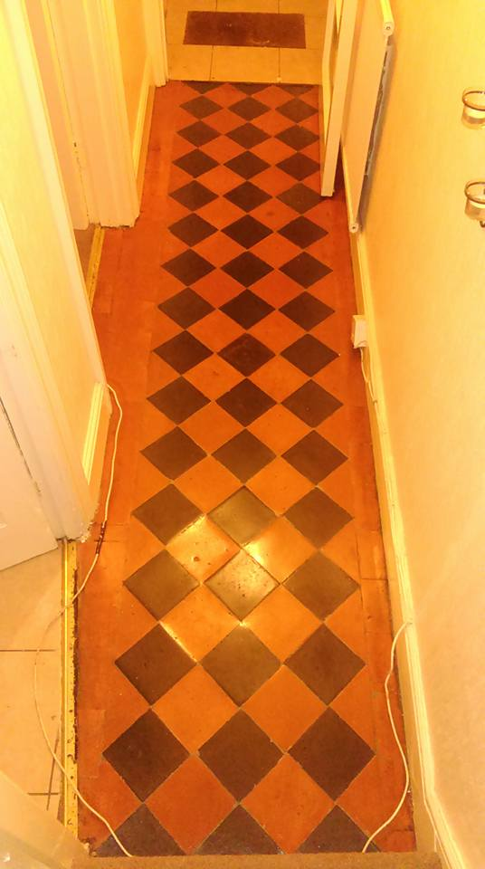Victorian Tiled Hallway Barnstaple after restoration