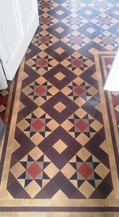 Georgian Reception Floor Tiles After Cleaning South Molton