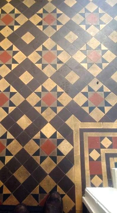 Georgian Reception Floor Tiles Before Cleaning South Molton