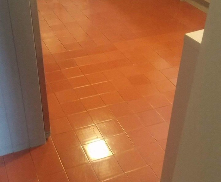 Quarry Tiled Kitchen Floor After Cleaning South Molton